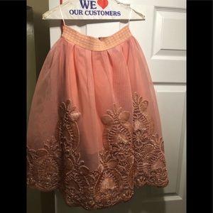 3D floral skirt